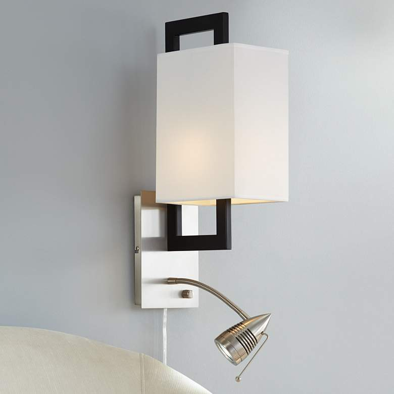 Possini Euro Floating Square LED Plug-In Wall Light