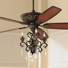 Bronze crystal ceiling fan with light kit ceiling fans lamps plus 60 aloadofball Choice Image