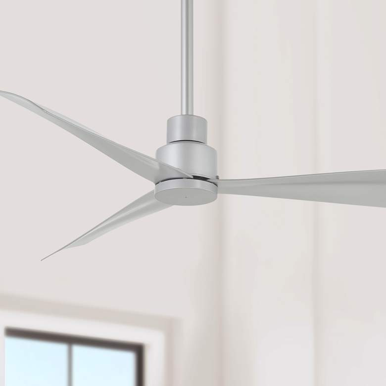 "44"" Minka Aire Simple Silver Outdoor Ceiling Fan"