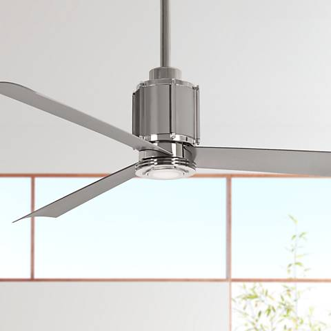 "54"" Minka Aire Gear Polished Nickel LED Ceiling Fan"