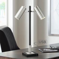 Twix 2-Light Desk Lamp with USB Port