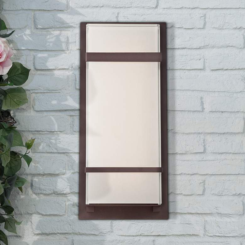"Modern Forms Phantom 16"" High Bronze LED Outdoor Wall Light"