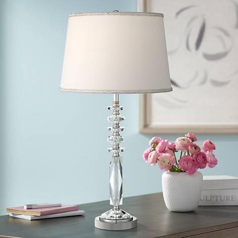 Flora Column Crystal Table Lamp 56h22 Lamps Plus