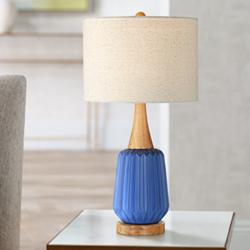 Padre Blue Mid-Century Ceramic Table Lamp