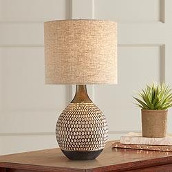 Emma Brown Ceramic Mid-Century Table Lamp