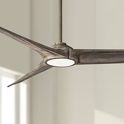 "84"" Heirloom Bronze LED Ceiling Fan w/ Aged Boardwalk Blades"