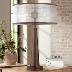 Apollo Industrial Modern USB Table Lamp