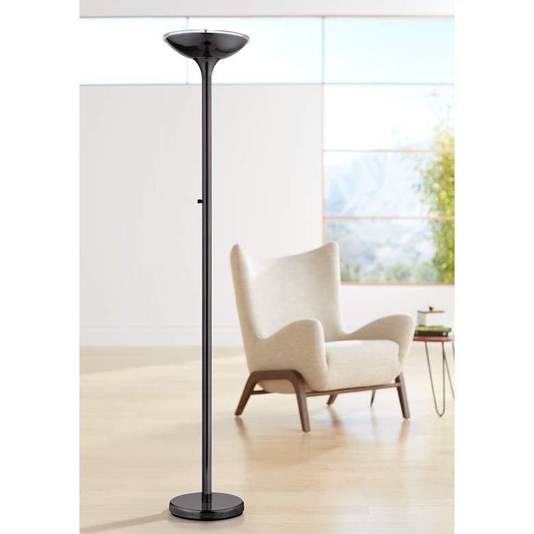 Lite Source Balbir Gunmetal LED Torchiere Floor Lamp