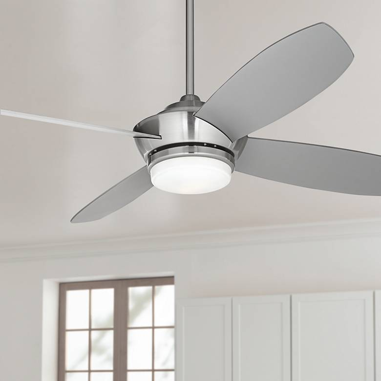 "52"" Casa Vieja® Veridian Brushed Nickel Ceiling Fan"