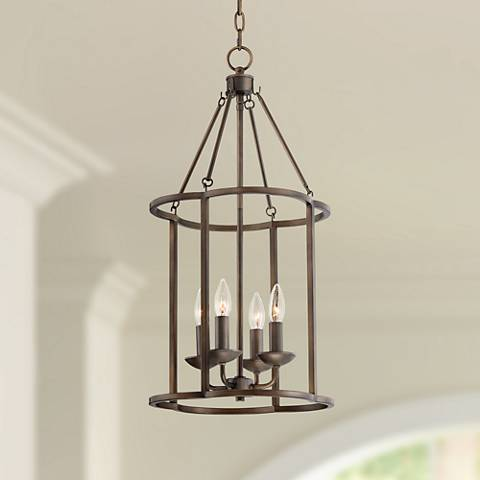 "Wren 13 1/2"" Wide Bronze 4-Light Entry Pendant"