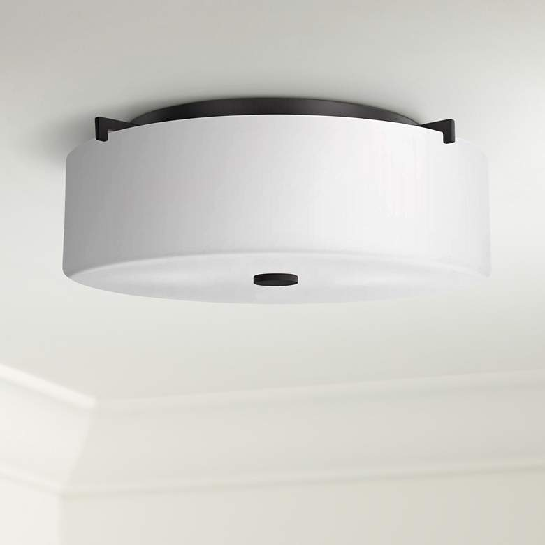 "Sunset Drive 16""W Oil-Rubbed Bronze Flushmount Ceiling Light"