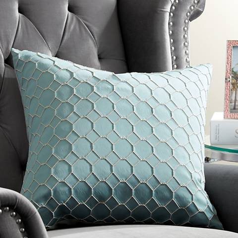 "Juno Cerulean 20"" Square Throw Pillow"