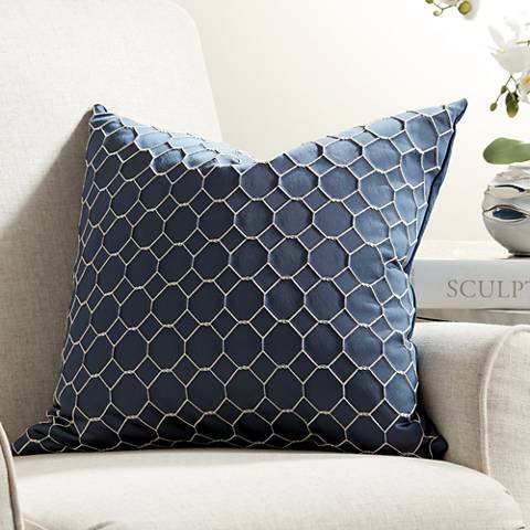 "Juno Cobalt 20"" Square Throw Pillow"