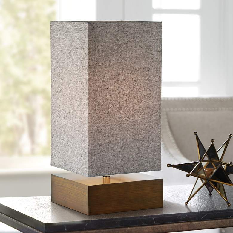 Lite Source Serina Walnut Wood Accent Table Lamp
