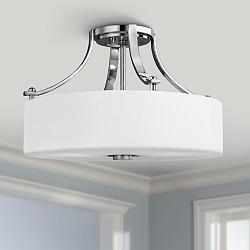 "Feiss Sunset Drive 16""W Chrome Semi-Flushmount Ceiling Light"