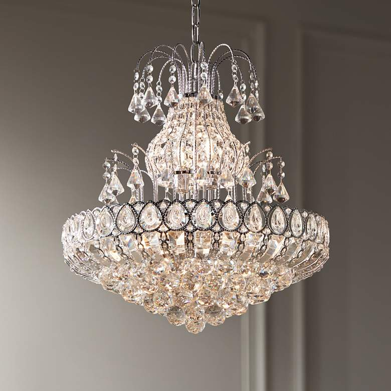 "Calylah 21 1/2"" Wide Chrome and Crystal Chandelier"