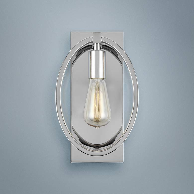 "Feiss Marlena 12 1/2"" High Chrome Wall Sconce"