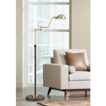Webster LED Adjustable Pharmacy Floor Lamp