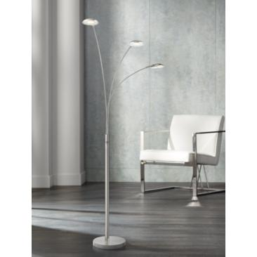 Lite Source Lennie Brushed Nickel 3-Light LED Arc Floor Lamp