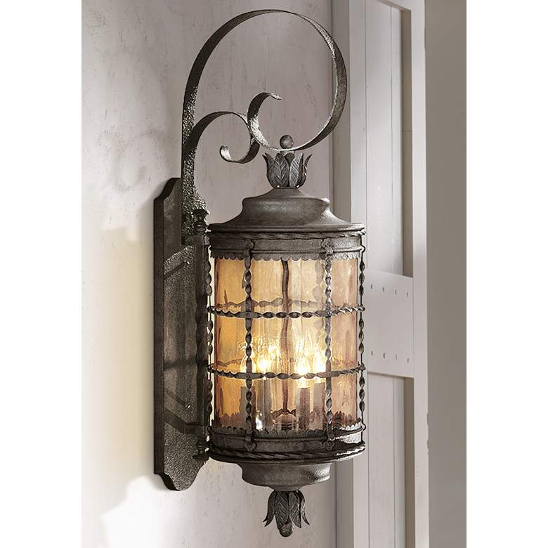 "Mallorca™ Collection Iron 34 1/4"" High Outdoor Light"