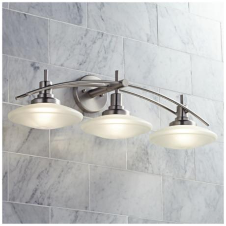 how to install bathroom light structures nickel 30 quot wide bathroom light fixture 57989 23430
