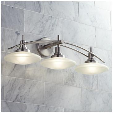 "Structures Nickel 30"" Wide Bathroom Light Fixture"