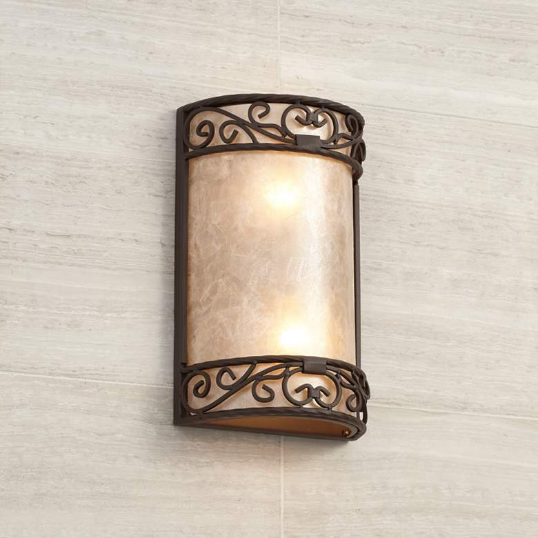 "Natural Mica Collection 12 1/2"" High LED Wall Sconce"
