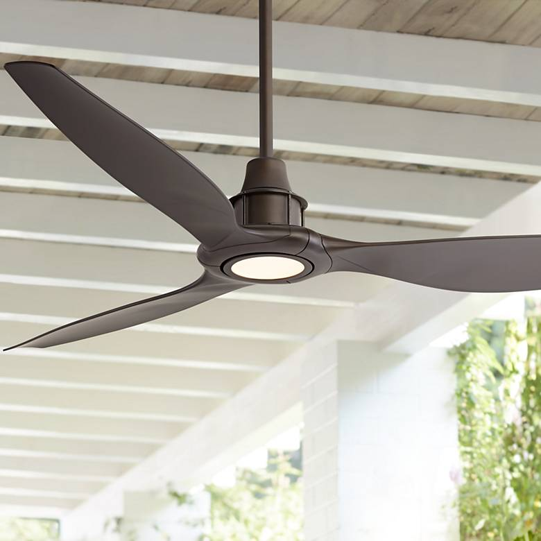 "58"" Interceptor Oil Rubbed Bronze Damp LED Ceiling Fan"