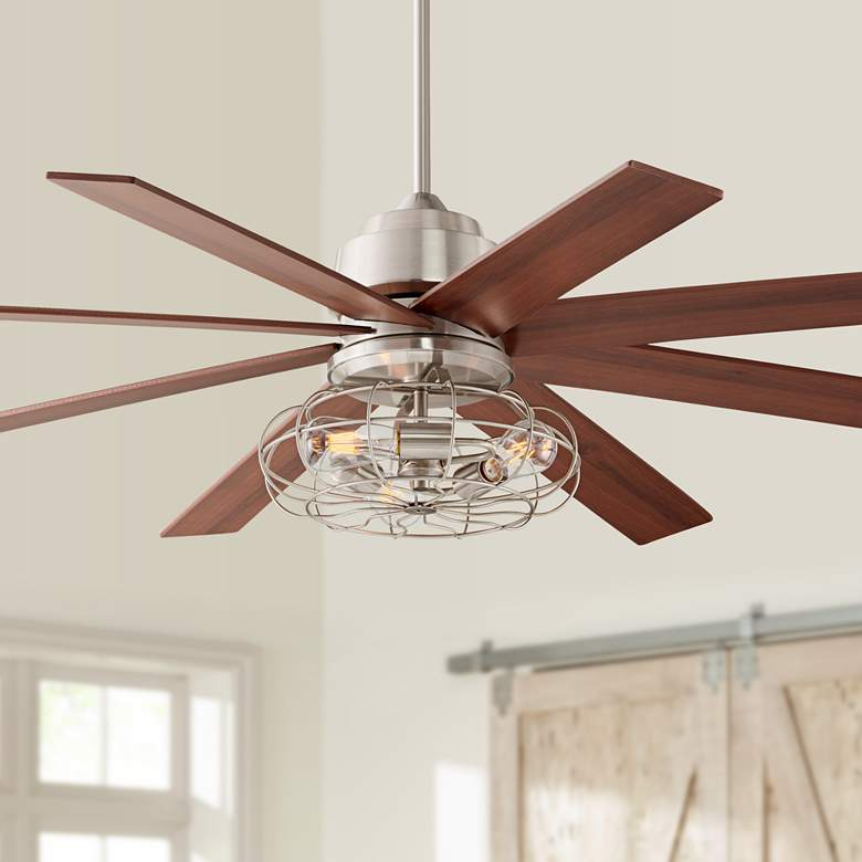 "60"" The Strand Brush Nickel LED Ceiling Fan"