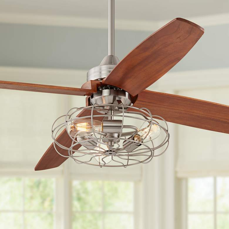 "52""Casa Vieja Insite Brushed Nickle Fan W/LED Light Kit"