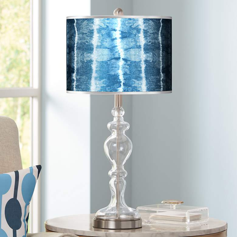 Cool Reflections Silver Metallic Apothecary Glass Table Lamp