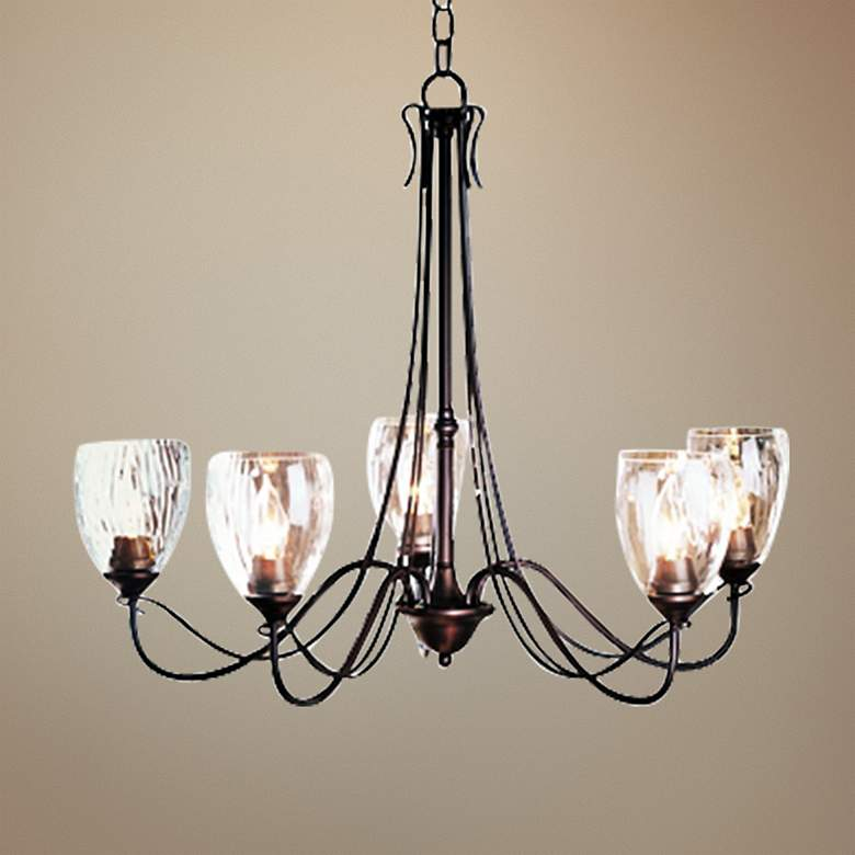 "Hubbardton Forge Trellis 28 1/4""W 5-Light Chandelier"