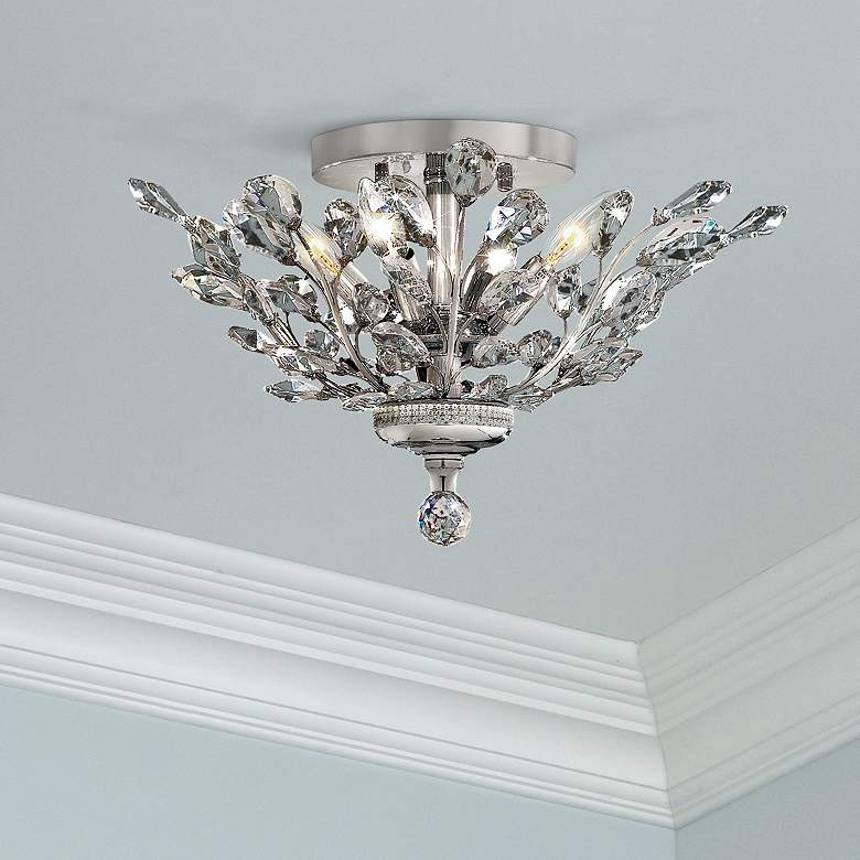 "Orchid 20"" Wide Chrome 4-Light Ceiling Light"