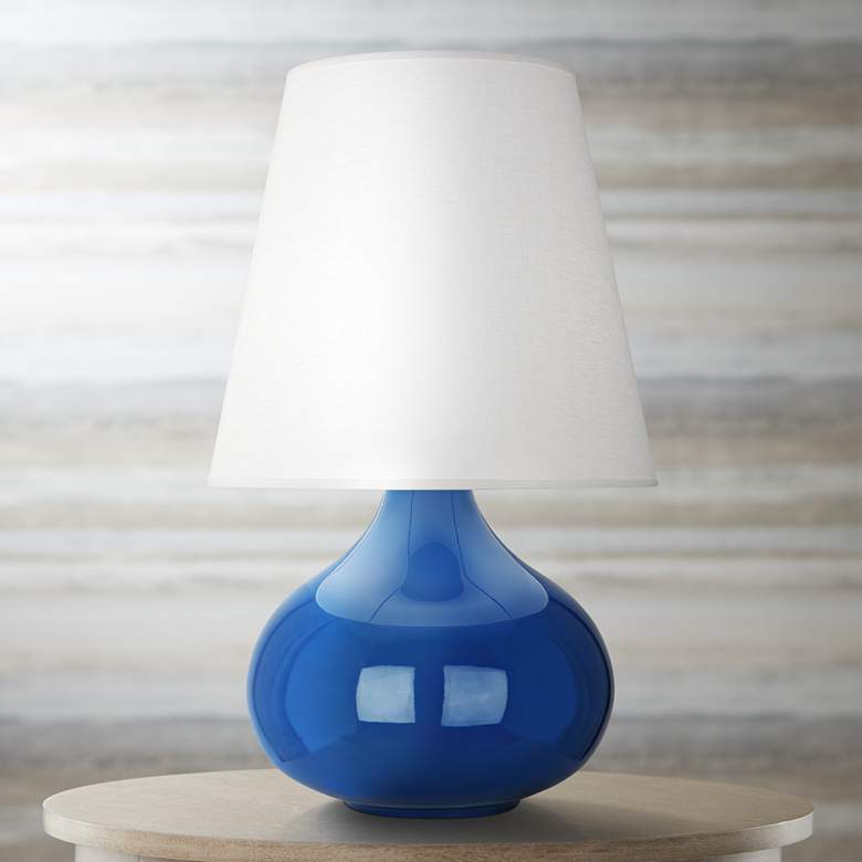 Robert Abbey June Marine Table Lamp with Oyster Linen Shade