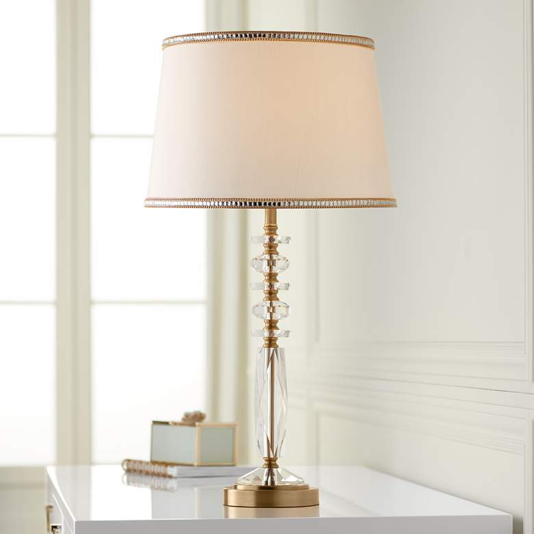Flora Gold and Crystal Table Lamp by Vienna Full Spectrum