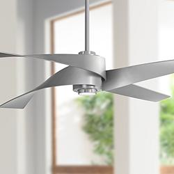 "64"" Minka Aire Artemis IV Brushed Nickel DC Ceiling Fan"