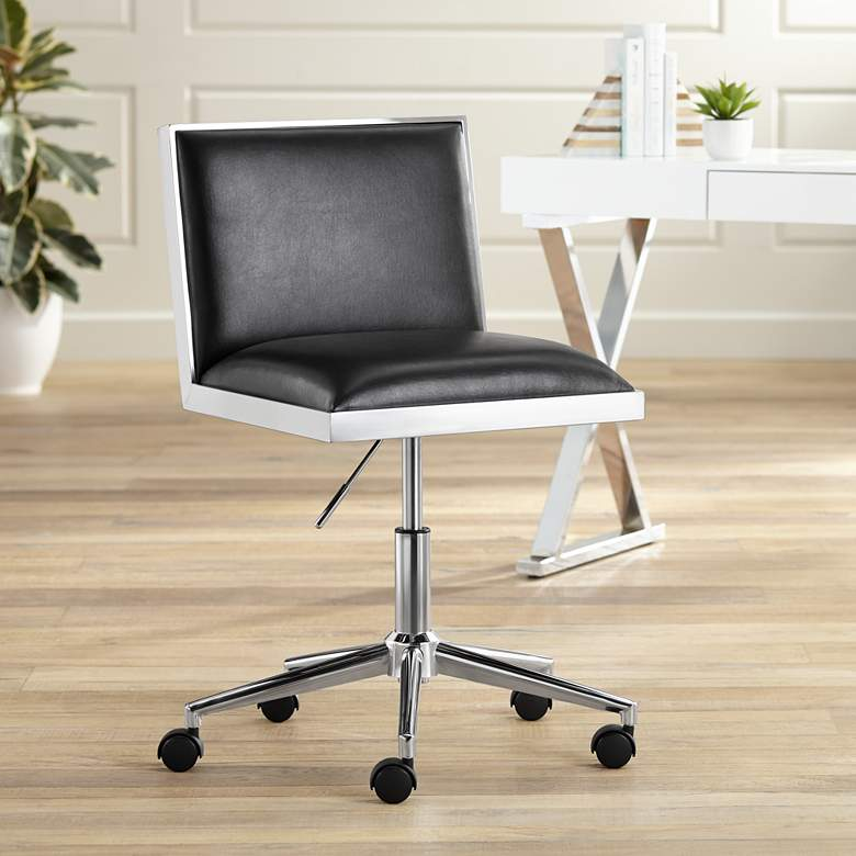 Emario Aspen Black Modern Adjustable Swivel Office Chair