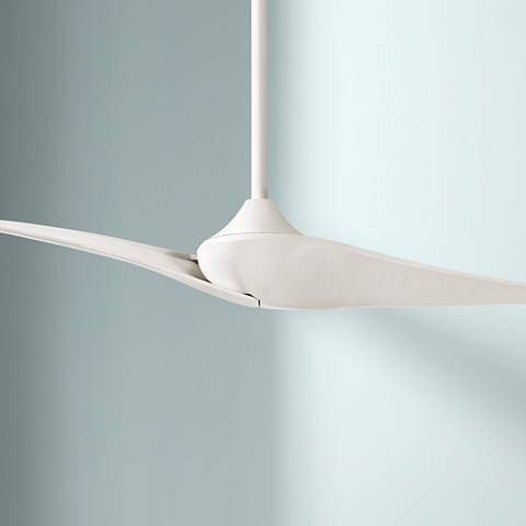 "60"" Minka Aire Wave II Flat White DC Ceiling Fan"