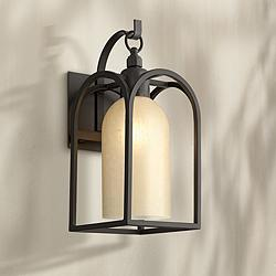 "Possini Euro Anthony 14 3/4"" High Bronze Outdoor Wall Light"