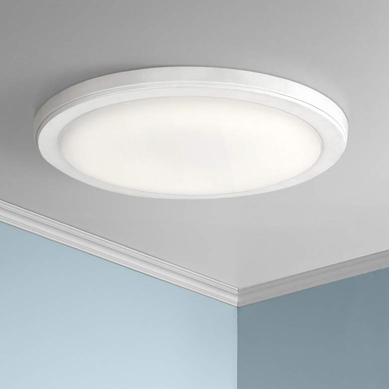 "Kichler Zeo 13"" Wide Round White 3000K LED"