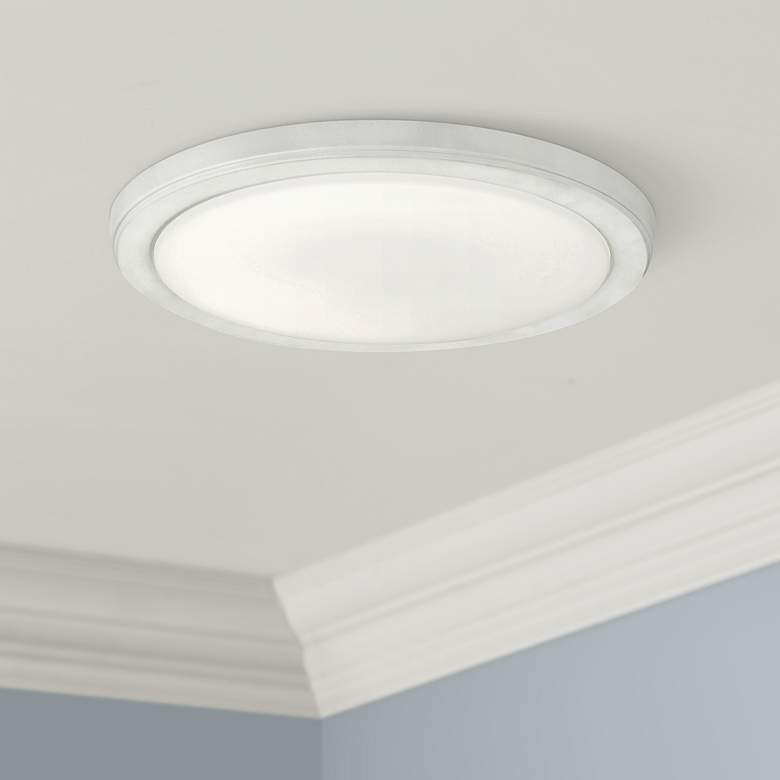 "Kichler Zeo 13"" Wide Round White 4000K LED"