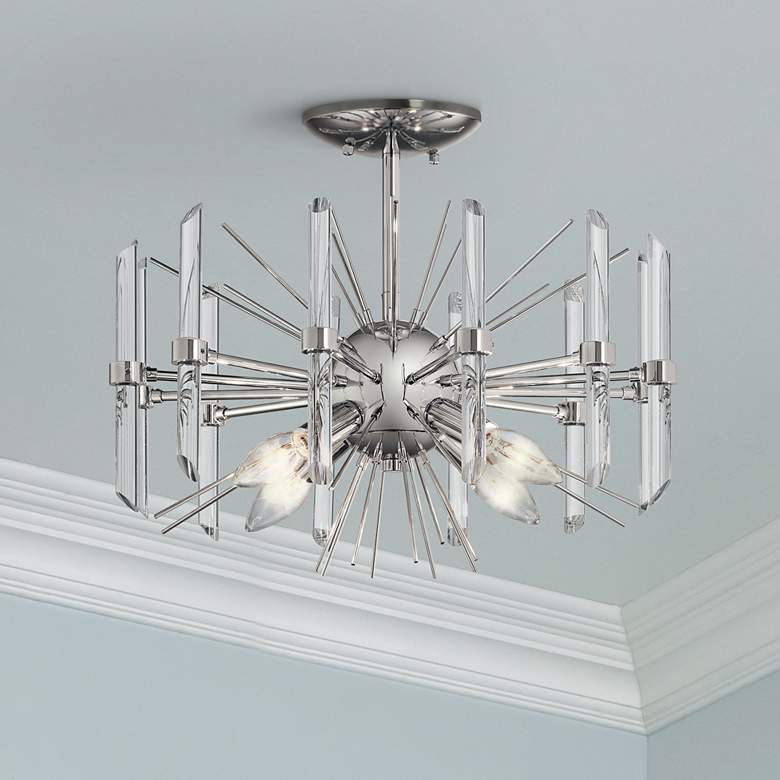 "Kichler Eris 16"" Wide Modern Crystal Ceiling Light"