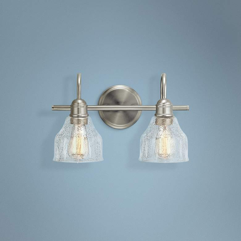 "Kichler Avery 9 1/4"" High Brushed Nickel 2-Light Wall Sconce"