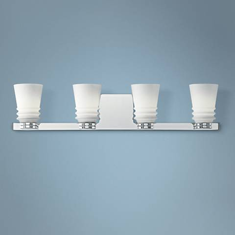 "Kichler Victoria 27"" Wide Chrome 4-Light Bath Light"
