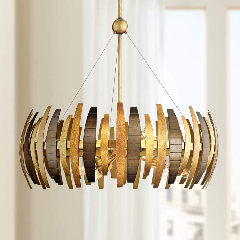 "Metropolitan Manitou 28 1/2"" Wide 6-Light Ardor Gold Pendant"