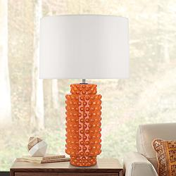 Robert Abbey Dolly Pumpkin Ceramic Table Lamp