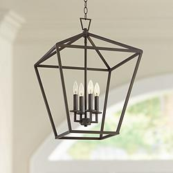 "Medford 17 1/2"" Wide Bronze 4-Light Entry Mini Pendant"