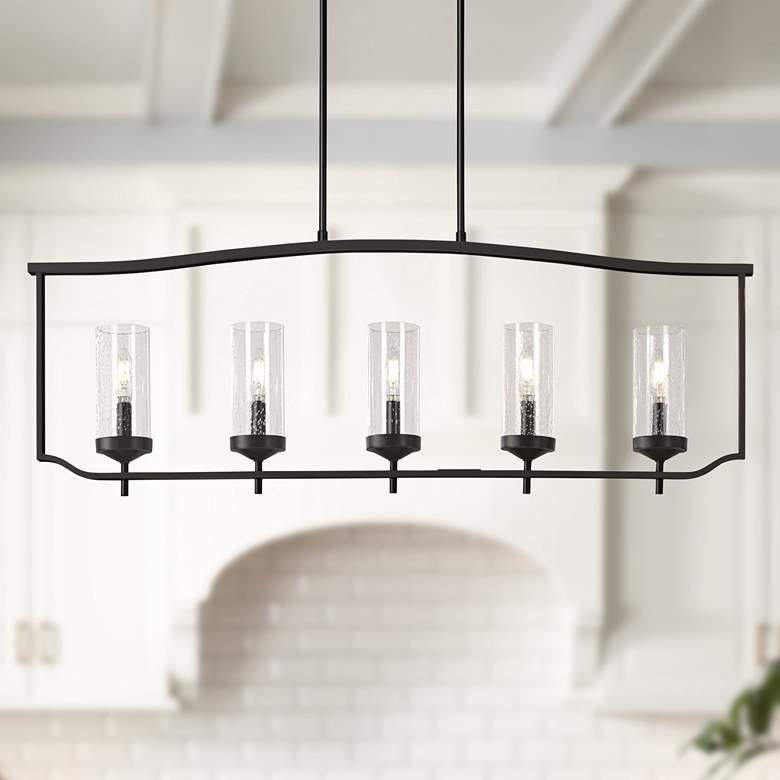 "Elyton 42 1/2""W Downtown Bronze Kitchen Island Light"