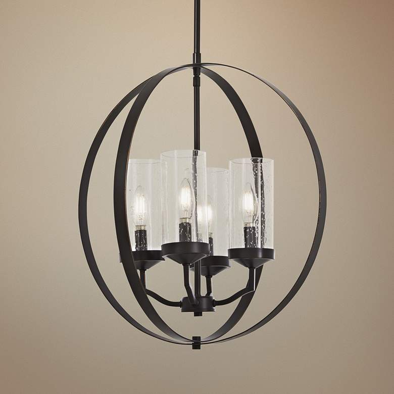 "Elyton 20"" Wide Downtown Bronze 4-Light Pendant"