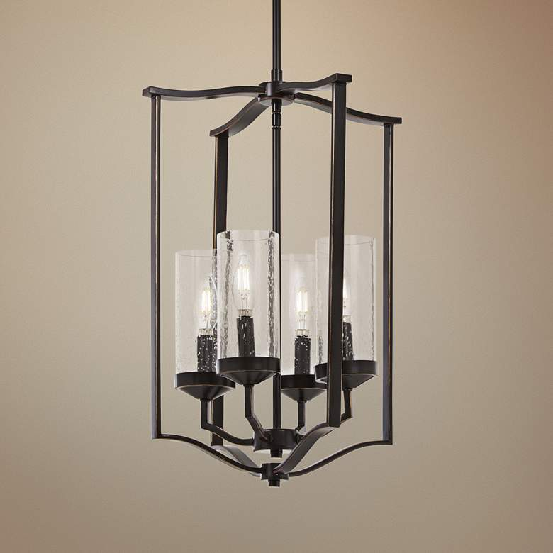 "Elyton 15"" Wide Downtown Bronze 4-Light Pendant"